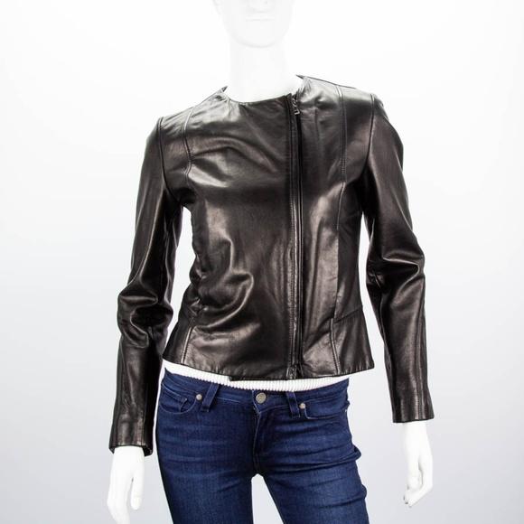 51fc50d180e9 Jil Sander Jackets & Coats | Black Lambskin Leather Jacket | Poshmark